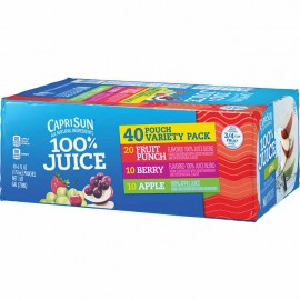 Capri Sun 100% Juice Pouches Variety Pack 6 fl. oz, 40-count