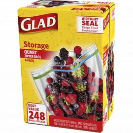 Glad 1-Qt. Plastic Zipper...