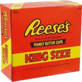 Reese's King Size Peanut Butter Cups, 2.8 oz, 24-count
