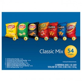 Frito Lay Classic Mix Variety Pack 1 oz, 54-count