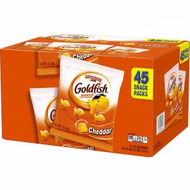 Pepperidge Farm Cheddar Goldfish Baked Snack Crackers 1 oz, 45-count