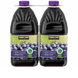Kirkland Signature 100% Concord Grape Juice 96 fl. oz, 2-count